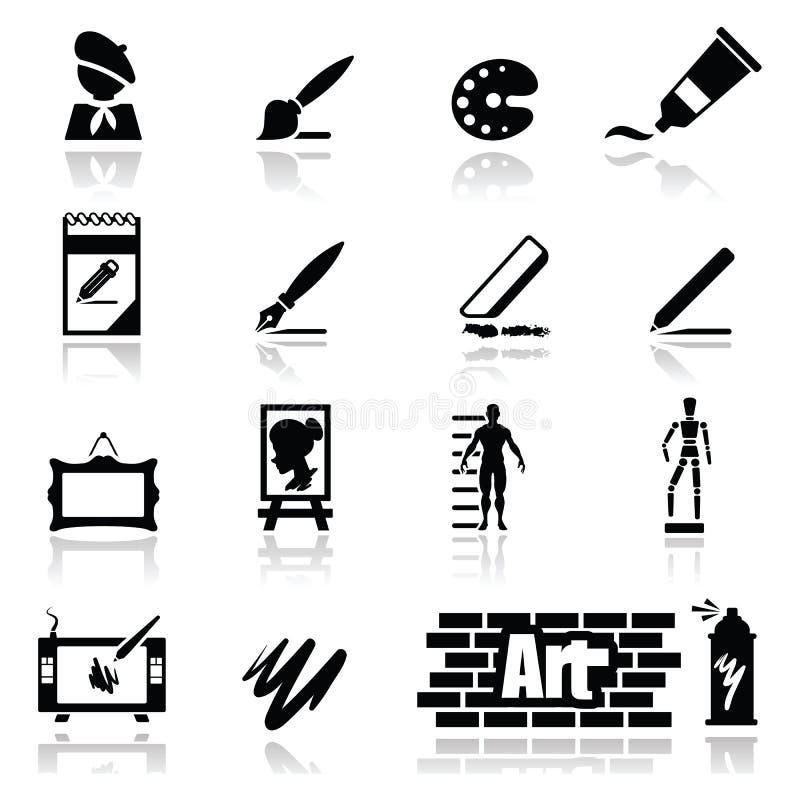 Os ícones Ajustaram Artes Imagem de Stock Royalty Free