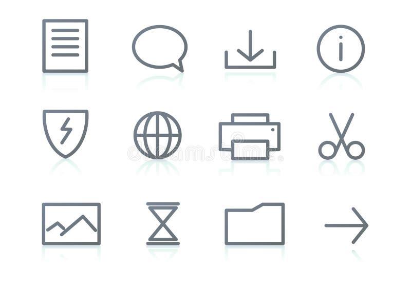 Os ícones ajustaram-se ilustração stock