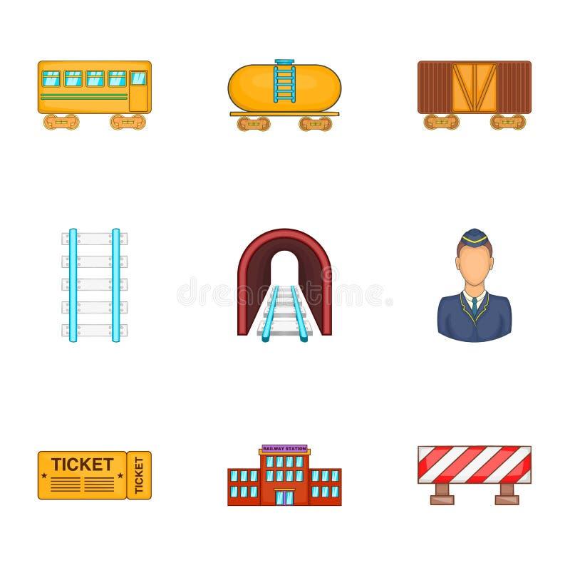 Download Os ícones Da Estrada Da Maneira Do Ferro Ajustaram-se, Estilo Dos Desenhos Animados Ilustração do Vetor - Ilustração de velocidade, moderno: 80102118