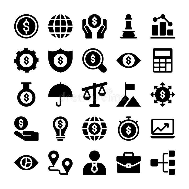 Os ícones da finança embalam ilustração stock