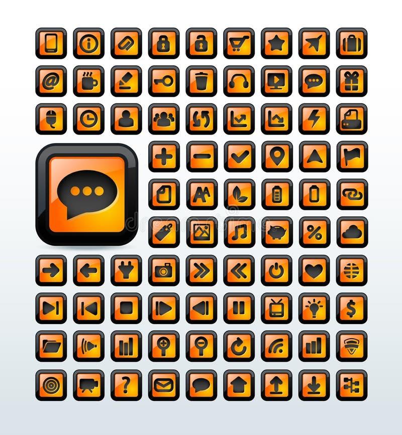 Os ícones da Web ajustaram a ilustração ilustração do vetor