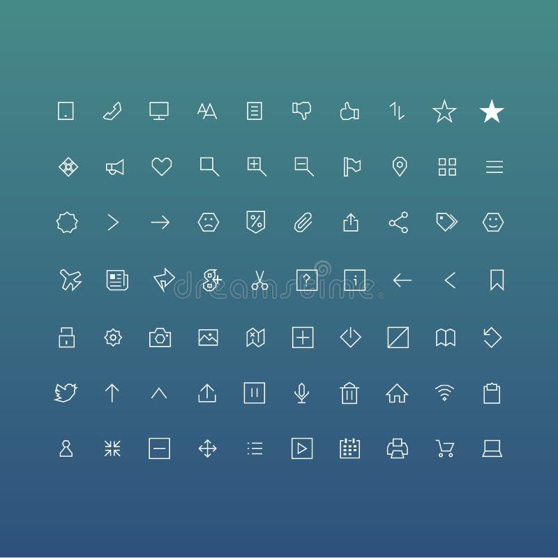 Os ícones da Web embalam ilustração royalty free