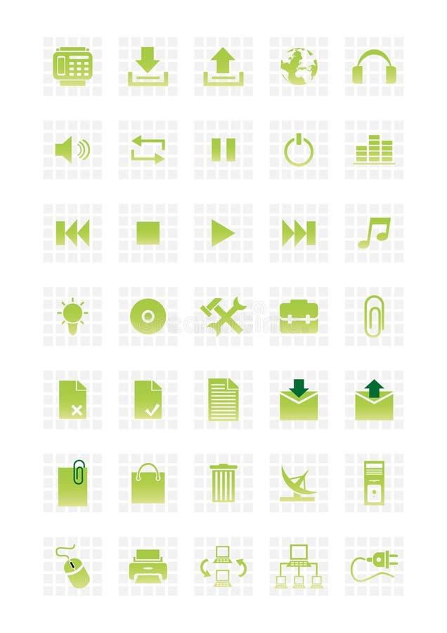Os ícones do Web ajustaram 2 ilustração stock