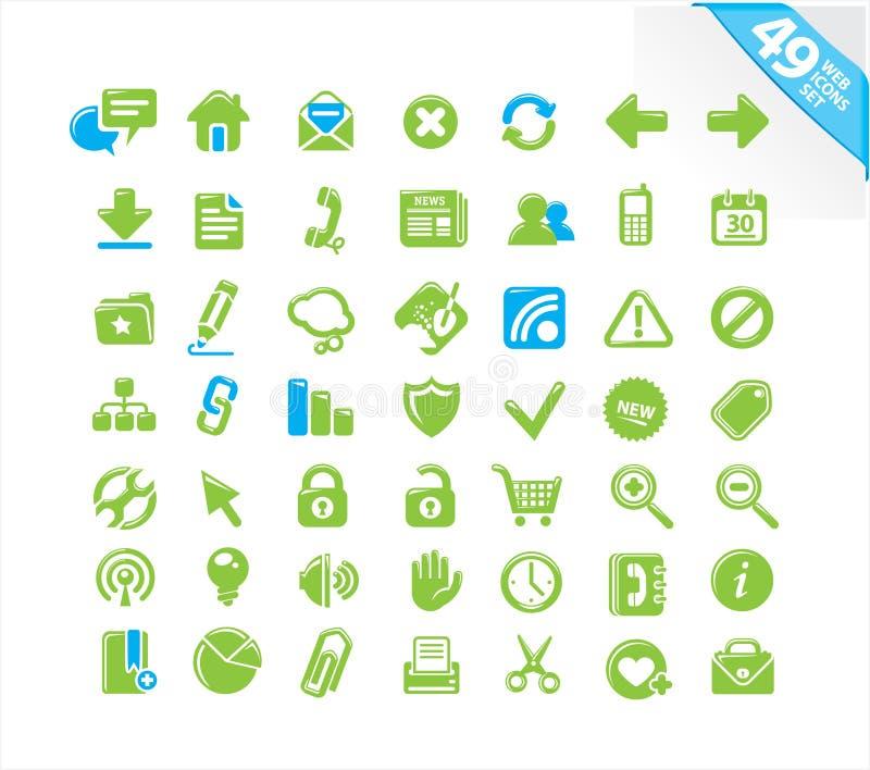 Download Os ícones Do Web Ajustaram-se Ilustração do Vetor - Ilustração de etiqueta, verde: 12801783