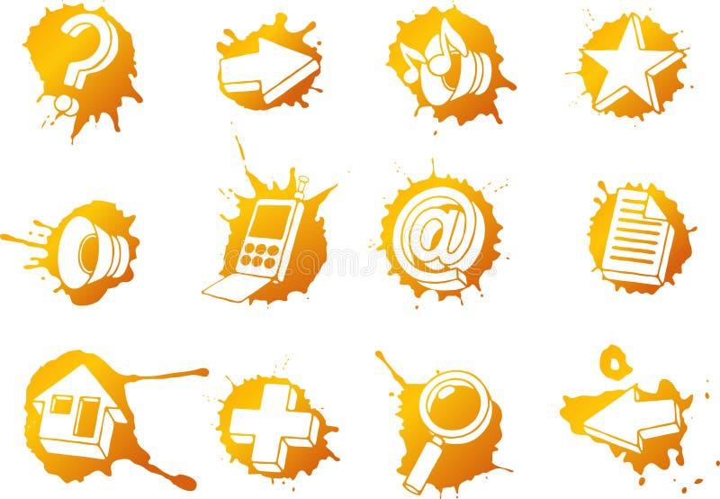 Os ícones do Web ajustaram-se ilustração royalty free