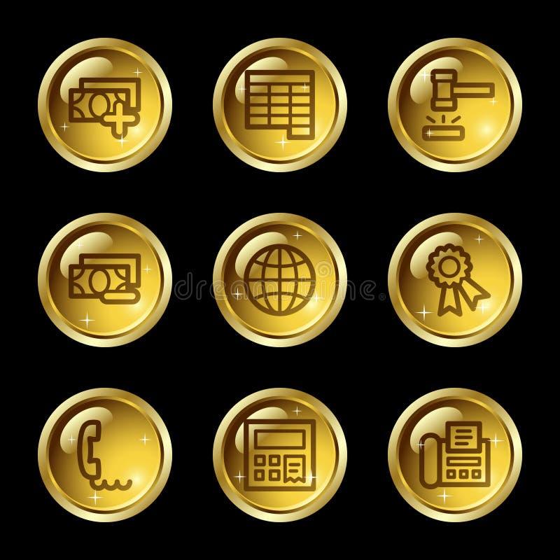 Os ícones do Web da finança ajustaram 2 ilustração royalty free