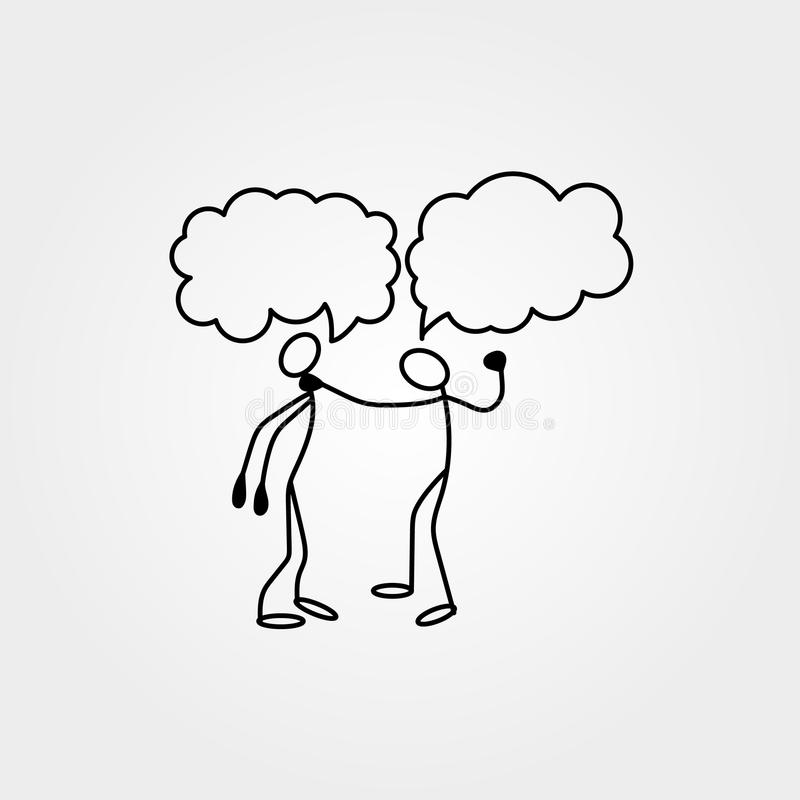 Os ícones dos desenhos animados do esboço colam figuras em cenas diminutas bonitos ilustração royalty free