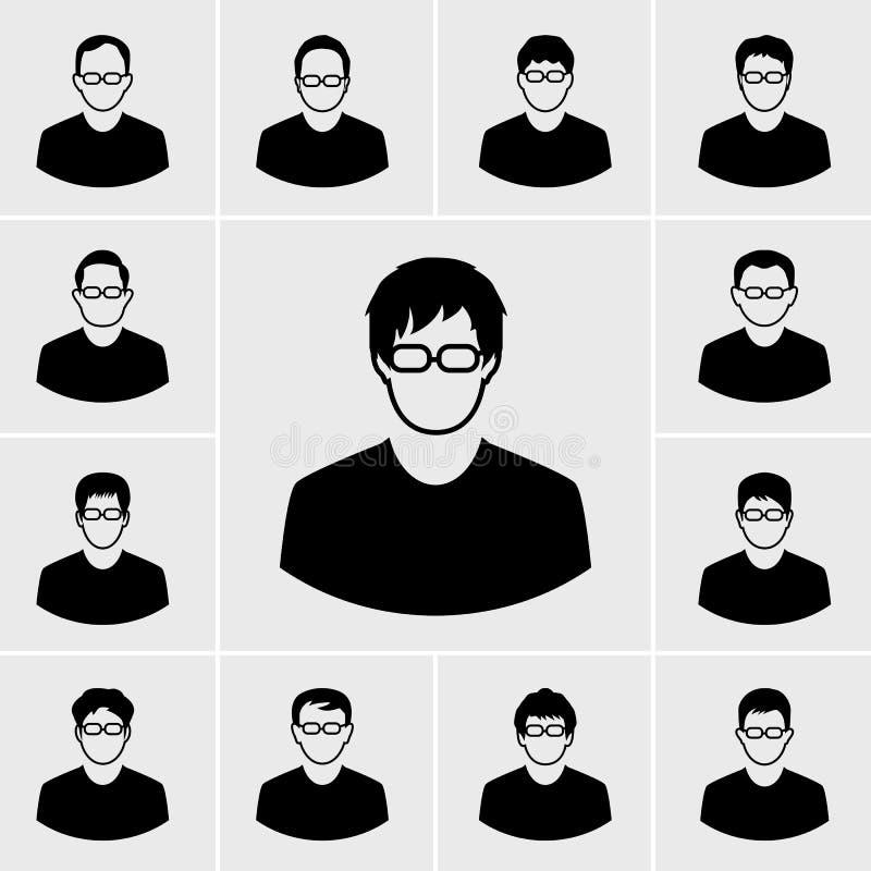 Os ícones equipam o grupo ilustração royalty free