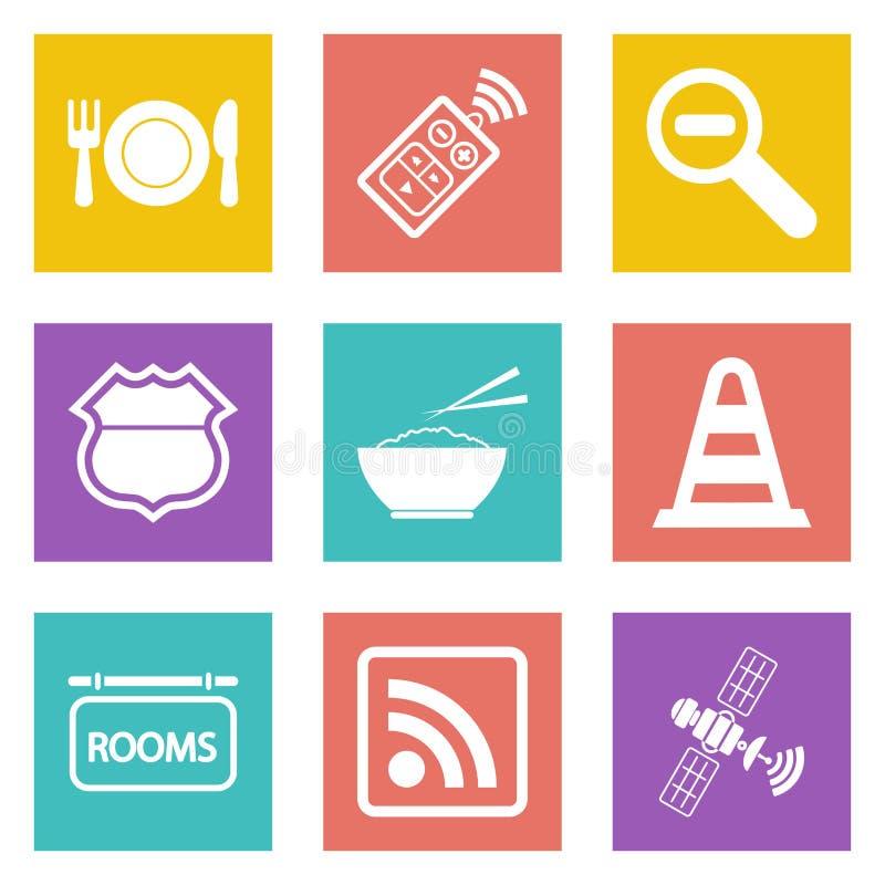 Os ícones para o design web ajustaram 24 ilustração do vetor