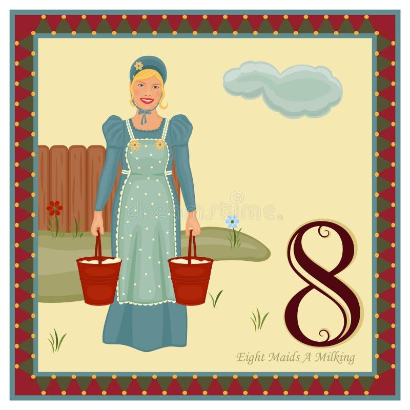 Os 12 dias do Natal ilustração royalty free