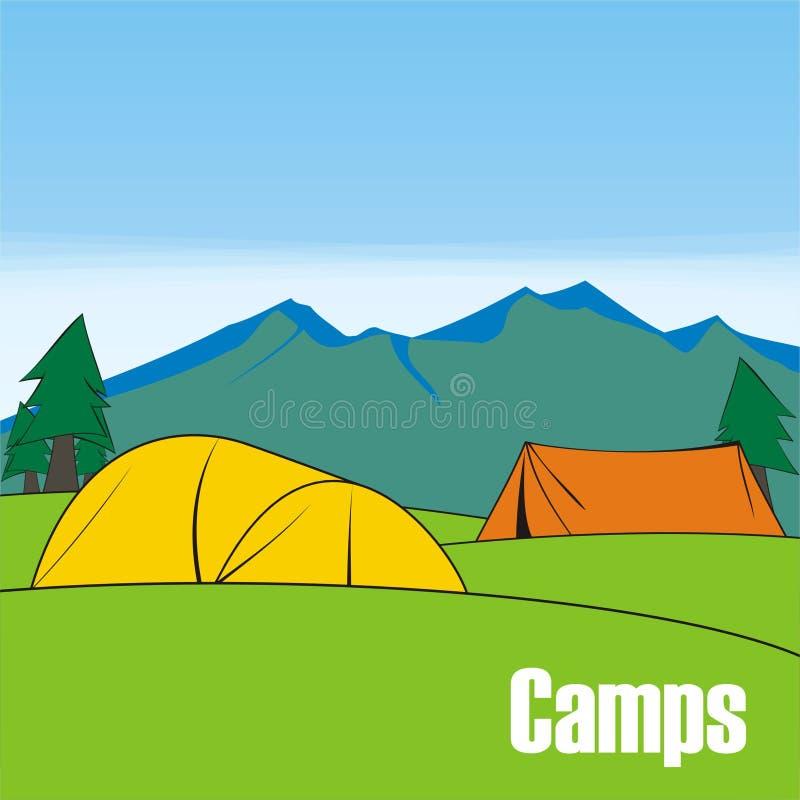 Os acampamentos fotos de stock