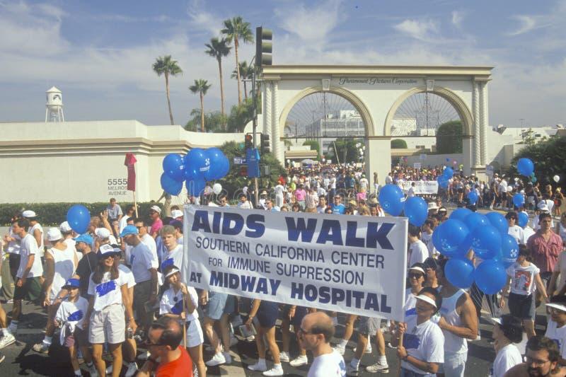 Os AIDS reagrupam em estúdios de Paramount fotos de stock