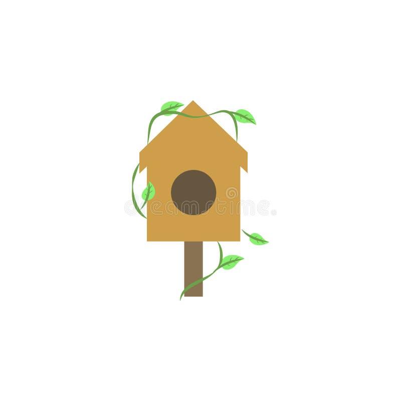 os alimentadores do pássaro coloriram o ícone Elemento do ícone colorido do outono para apps móveis do conceito e da Web O ícone  ilustração do vetor