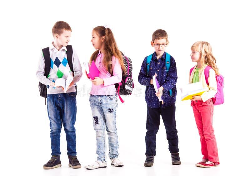 Os alunos estão prontos para a escola imagem de stock royalty free