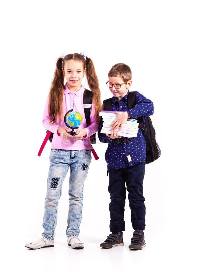 Os alunos estão prontos para a escola fotografia de stock