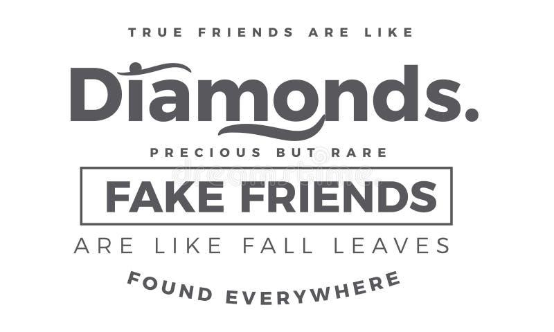 Os amigos verdadeiros são como diamantes muito mas raro ilustração royalty free