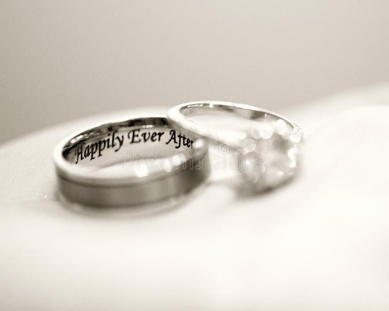 Os anéis foto de stock