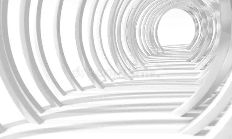 Os anéis brancos escavam um túnel ilustração stock
