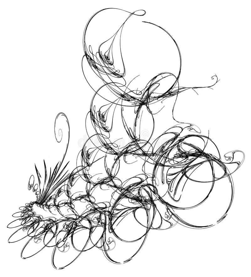 Os anéis intrincados da tinta florescem abstrato ilustração stock