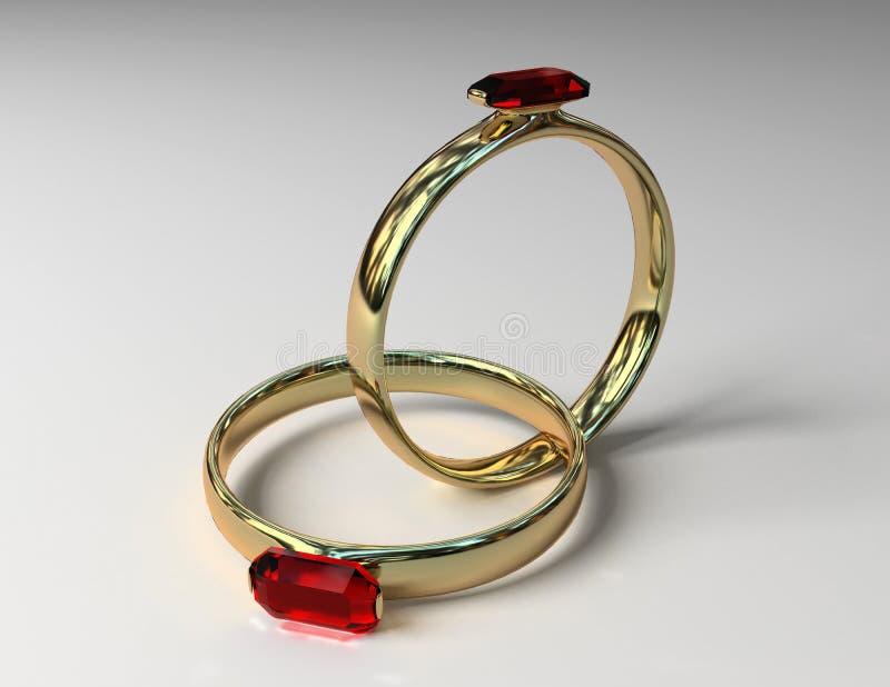 Os anéis prendidos ilustração royalty free