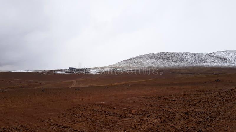 Os Andes entre o Chile e Bolívia fotos de stock royalty free