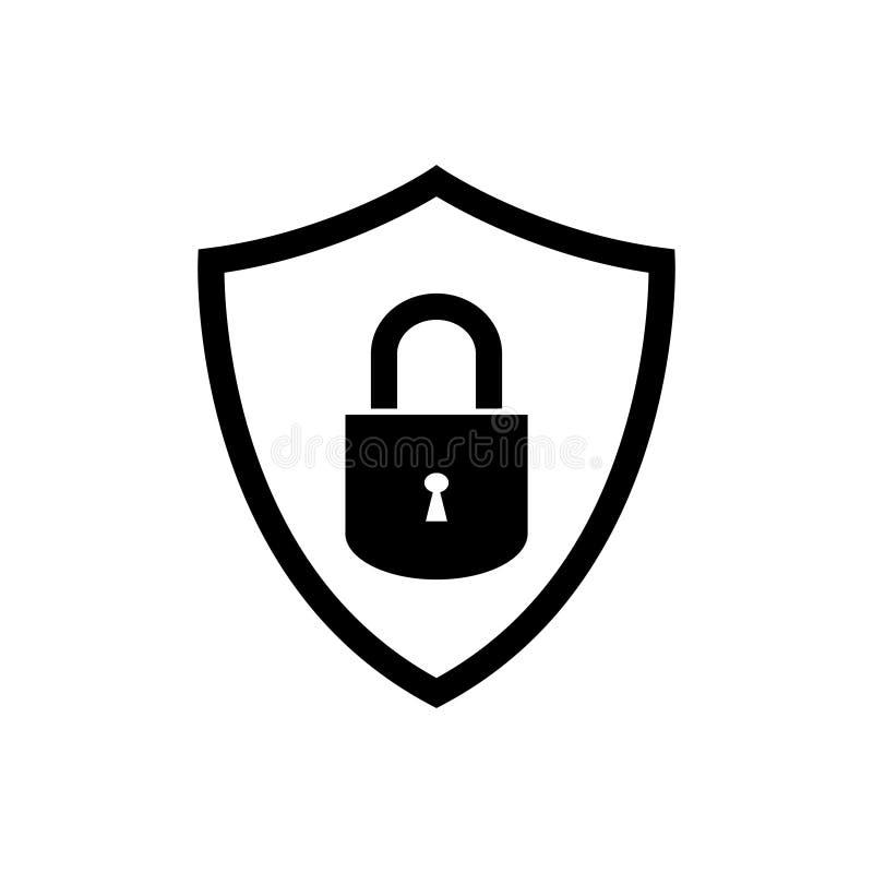 Os?ania wektorowego ikony ochrony ochrony symbol dla graficznego projekta, logo, strona internetowa, og?lnospo?eczni ?rodki, mobi royalty ilustracja
