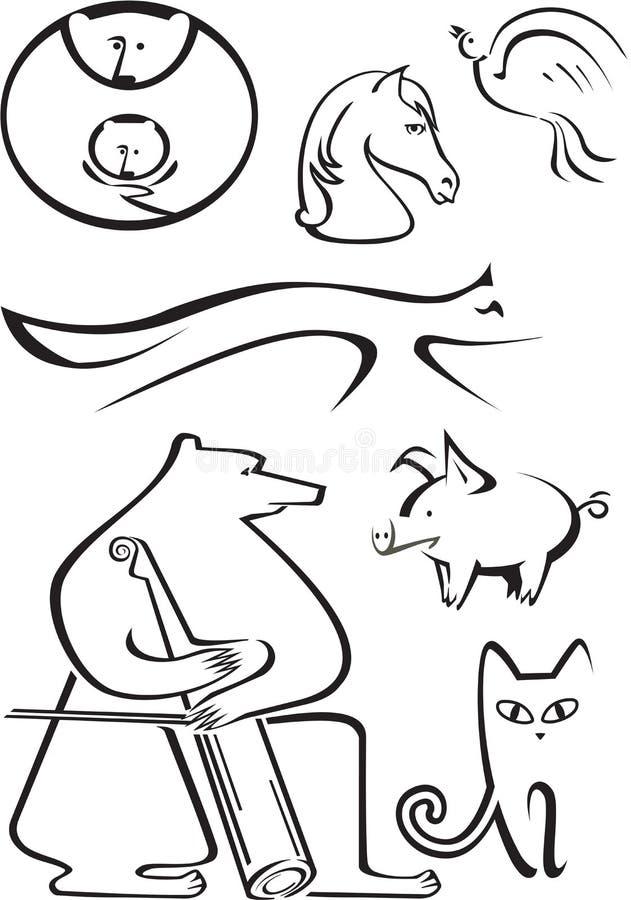 Os animais ilustração stock