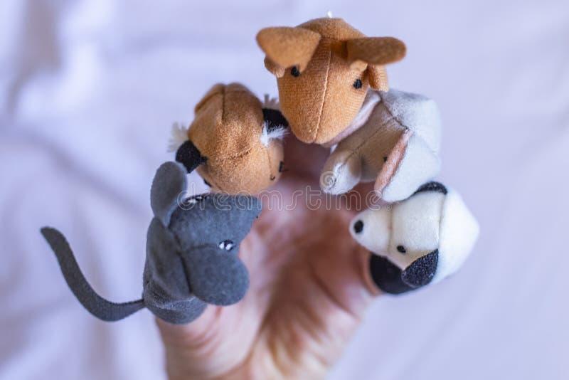Os animais do brinquedo tiveram uma reunião imagem de stock