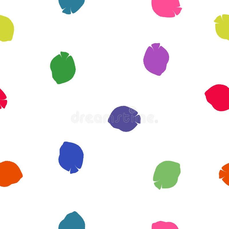 Os animais sem emenda modelam peixes tropicais coloridos no branco, vetor ilustração stock