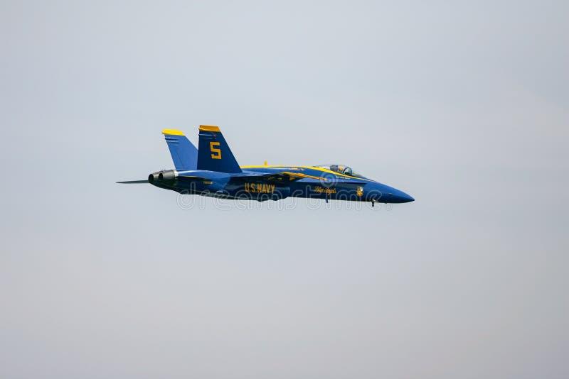 Os anjos azuis pilotam visível no zangão F-18 imagens de stock