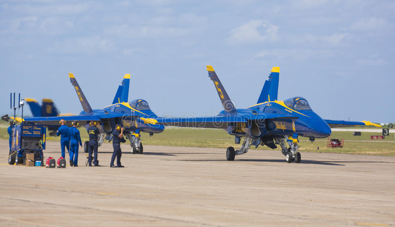 Os anjos azuis preparam-se para o vôo fotos de stock