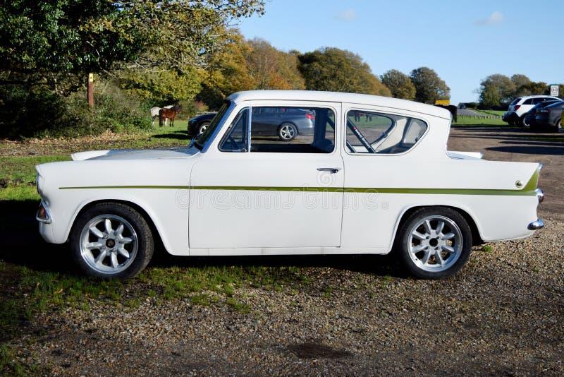 Os anos 60 clássicos Ford Anglia do vintage imagem de stock royalty free