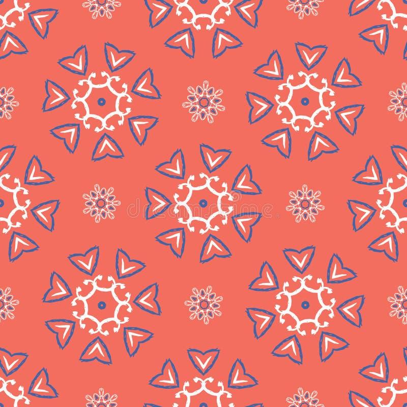 os anos 50 denominam a polca floral retro Dot Seamless Vetora Pattern ilustração royalty free