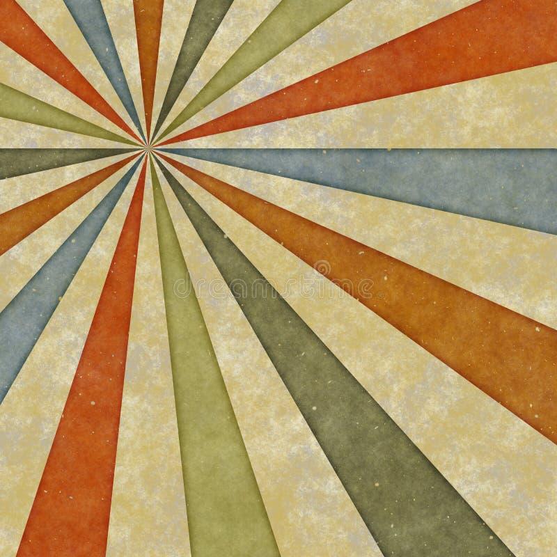 Os anos sessenta denominam o redemoinho sujo do sunburst ilustração royalty free