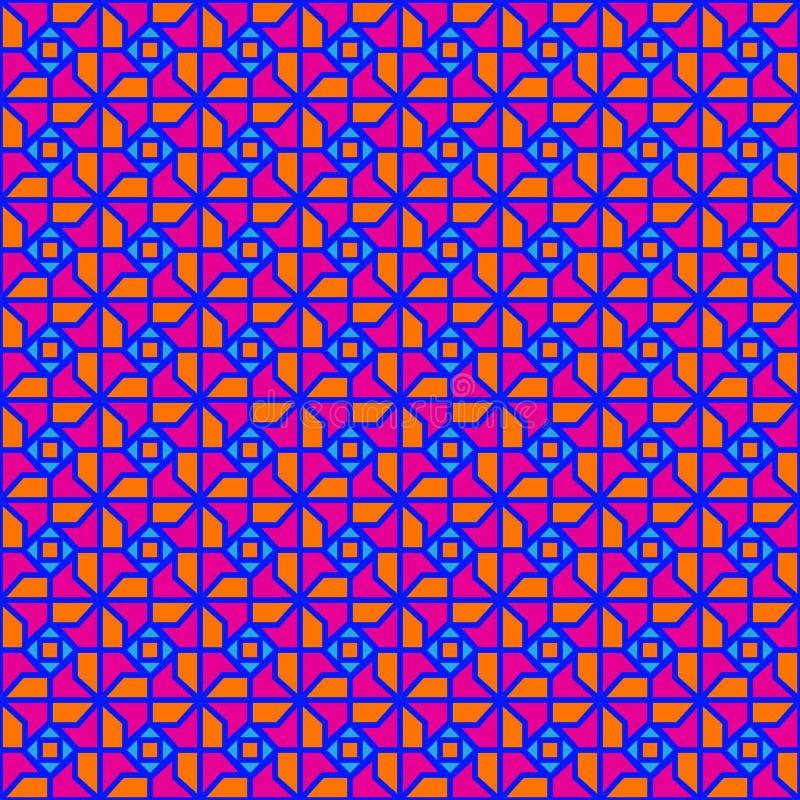 Os anos setenta geométricos ilustração royalty free