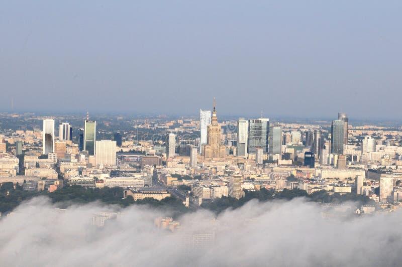 Os arranha-céus de Varsóvia imagens de stock royalty free