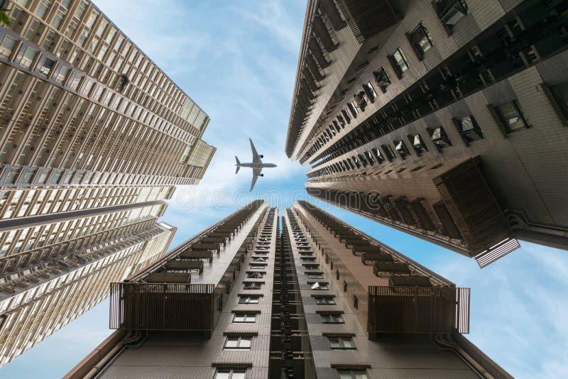 Os arranha-céus residenciais de Hong Kong fotografia de stock royalty free