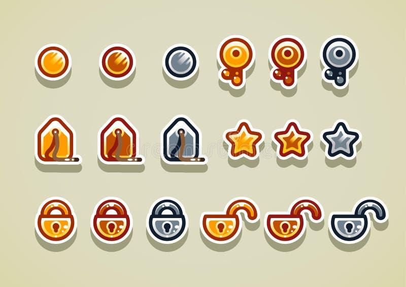 2.os art?culos de la arcada para el sistema 2 del videojuego libre illustration