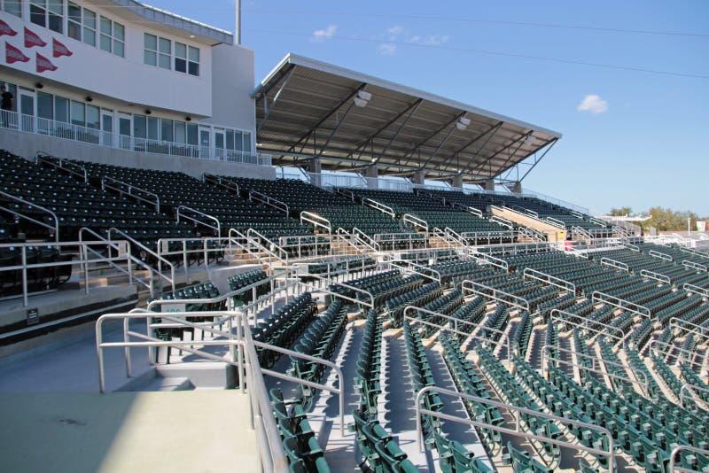 Os assentos novos em Hammond Stadium imagens de stock royalty free