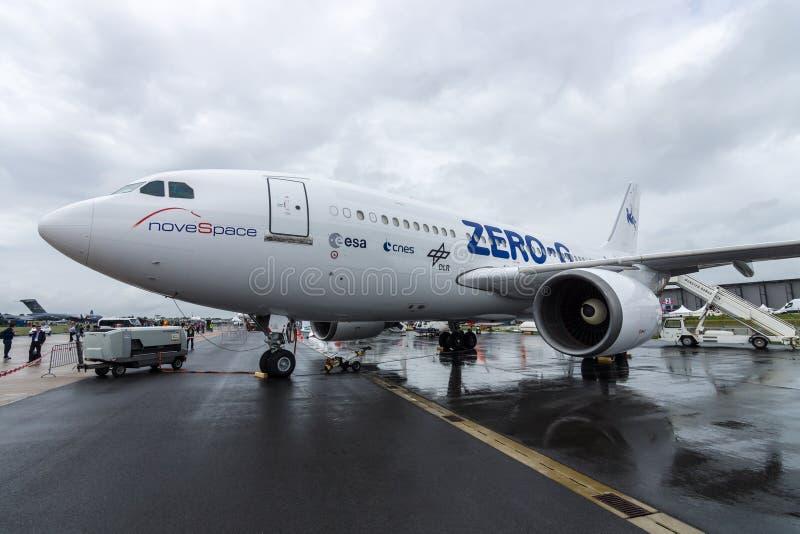 Os aviões para simular a gravidade zero Airbus A310 ZERO-G dos efeitos foto de stock