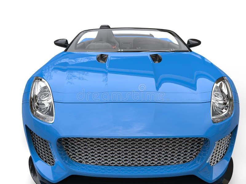 Os azuis marinhos jejuam tiro automobilístico do close up da capa dos esportes do convertible imagens de stock royalty free