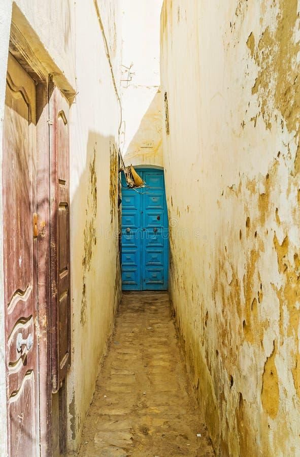 Os backstreets de Sousse Medina, Tunísia foto de stock