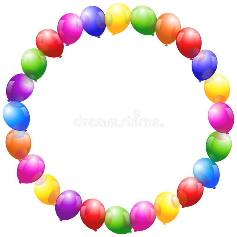 Os balões moldam a circular ilustração stock
