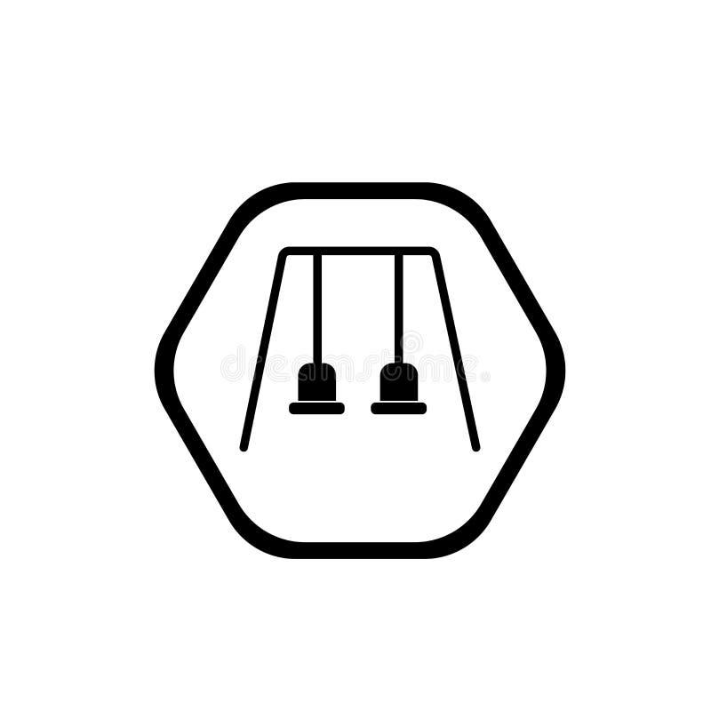Os balanços assinam o vetor do ícone isolados no fundo branco, sig dos balanços ilustração royalty free