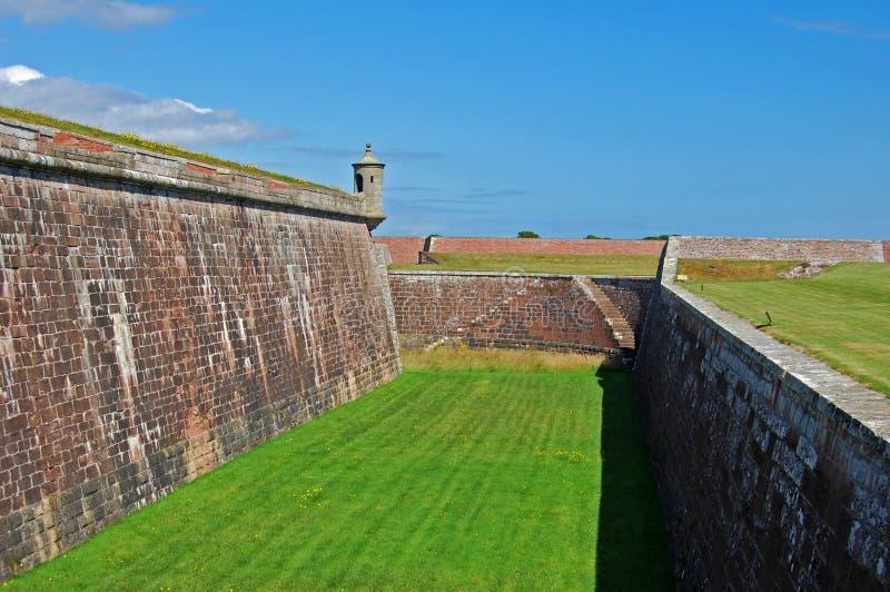 Os battlements do forte George, Scotland fotos de stock