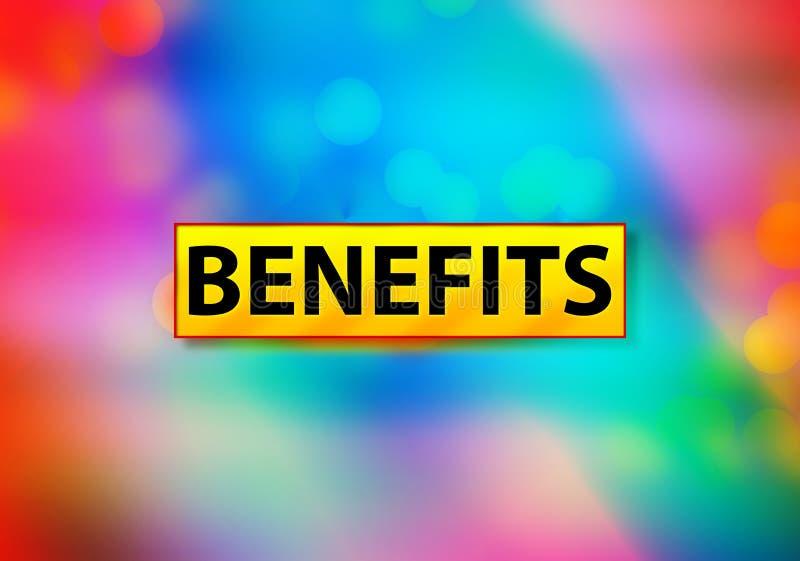 Os benefícios abstraem a ilustração colorida do projeto de Bokeh do fundo ilustração stock