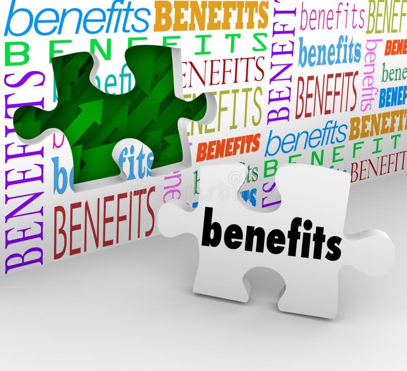 Os benefícios furam na parte Poin de venda original completo do enigma da parede ilustração stock