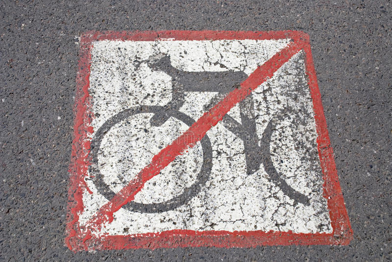 Os Bicyclists não têm uma estrada fotografia de stock