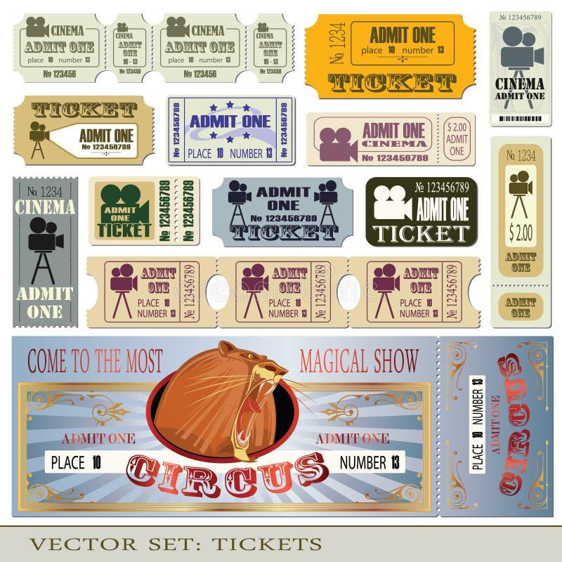 Os bilhetes admitem um ilustração stock