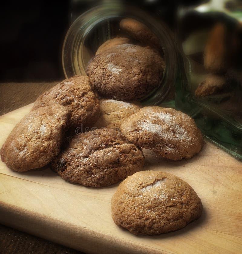 Biscoitos macios do gengibre fotos de stock royalty free